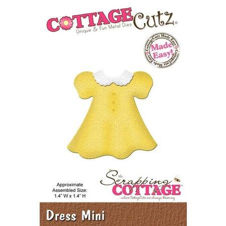 Cottage Cutz Corte y estampado en relieve plantillas CottageCutz, Mini vestido