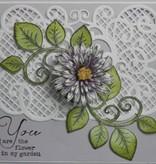Heartfelt Creations aus USA Dybtfølt stempel, romantisk gren med blade + Tekst