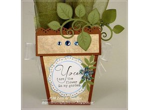 Heartfelt Creations aus USA HEARTFELT stamp, romantic branch with leaves + Text