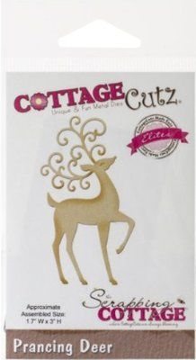 Cottage Cutz Cutting and embossing stencils CottageCutz, reindeer