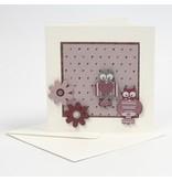 Embellishments / Verzierungen 3 bemalte Holzfiguren, 25-45 mm, Eule