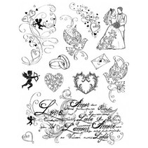 Transparent Stempel, Thema: Liebe, Hochzeit