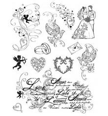 Viva Dekor und My paperworld Sellos transparentes Tema: El amor, el matrimonio