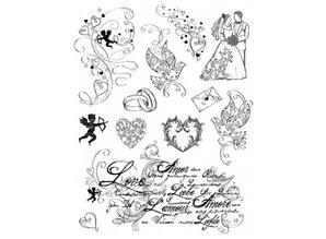 Viva Dekor und My paperworld Timbri trasparenti, Tema: Amore, matrimonio