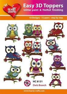 BILDER / PICTURES: Studio Light, Staf Wesenbeek, Willem Haenraets Easy 3D Toppers - sweet owl