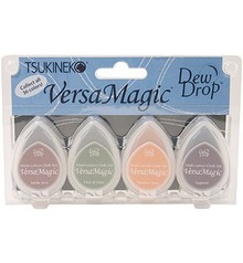 FARBE / INK / CHALKS ... Versamagic Dew Drop Set - Harvest, 4 farve
