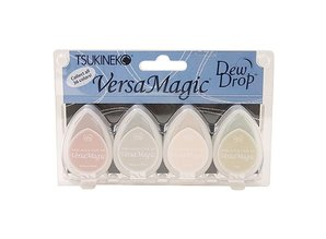 FARBE / INK / CHALKS ... Versamagic Dew Drop Set - Four Corne 4 color