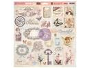 Prima Marketing und Petaloo Chipboard Princess 32 Teile
