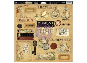 Prima Marketing und Petaloo Chipboard TimeTraveler Collection