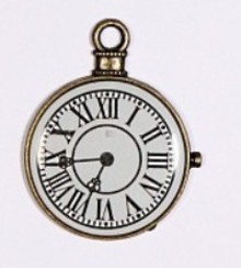 Embellishments / Verzierungen 1 Mini Antico, orologio d'epoca