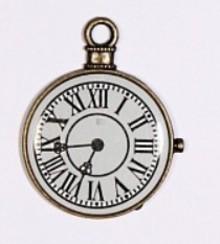Embellishments / Verzierungen 1 Mini Antik, vintage ur