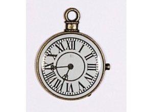Embellishments / Verzierungen 1 Mini Antique, vintage clock