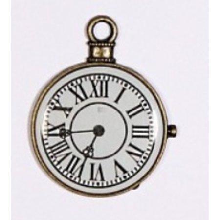Embellishments / Verzierungen 1 Mini antiek, vintage klok