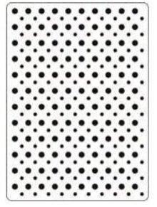 Crealies und CraftEmotions Embossing Folder 106x150 mm, Punkte
