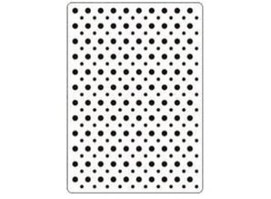Crealies und CraftEmotions Embossing Folder 106x150 mm, points