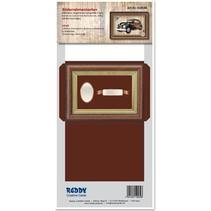 Tarjetas Marco fotográfico imprimen marrón