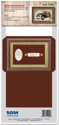 KARTEN und Zubehör / Cards Picture Frame cards maroon printed