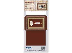 KARTEN und Zubehör / Cards Picture Frame kort rødbrun trykt