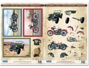 BILDER / PICTURES: Studio Light, Staf Wesenbeek, Willem Haenraets Die cut sheets and bow motif, 2 motorcycles, SUVs