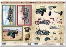 BILDER / PICTURES: Studio Light, Staf Wesenbeek, Willem Haenraets Die cut ark og sløjfe motiv, 2 motorcykler, SUV'er