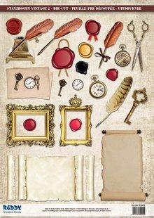 Embellishments / Verzierungen Fogli singoli Die con accessori di cartoncino, A4
