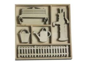 Objekten zum Dekorieren / objects for decorating Box Botanical Summer - Water Pump, gates 25 parts