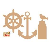 MDF set Maritime, Anker/Poller/Ruderrad