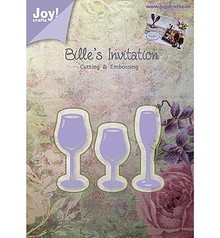 Joy!Crafts und JM Creation Joy Crafts, punching - and embossing template, glasses