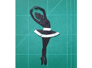 Spellbinders und Rayher Spellbinders, stansning og prægning skabelon, Tiny Dancers