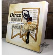 Spellbinders, Stanz- und Prägeschablone, Tiny Dancers