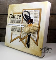 Spellbinders und Rayher Spellbinders, punching and embossing template, Tiny Dancers