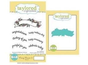 Taylored Expressions Bandera Stamp + texto + punzón plantilla