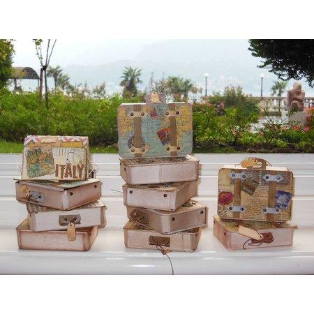 """Carta Bella und Echo Park Stempling og prægning stencil, Echo Park Suitcase Designer Denne """"kuffert"""""""