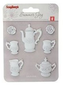 Embellishments / Verzierungen Harpiks 7 piece Tea Time