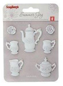 Embellishments / Verzierungen Harpiks 7 piece Tea Time