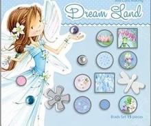 Embellishments / Verzierungen 15 dekorative brads, blå toner