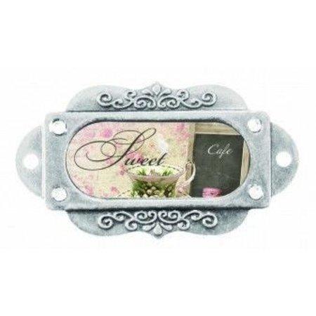 Embellishments / Verzierungen 2 Metall, Rahmen, Antique, French Journey Joy And Sweetness