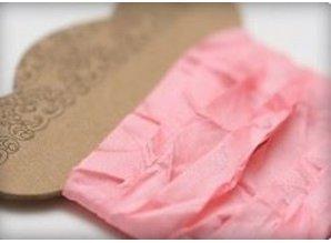 DEKOBAND / RIBBONS / RUBANS ... Shabby Ribbon pink 10 mm, 1 m