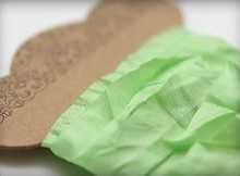 DEKOBAND / RIBBONS / RUBANS ... Shabby Fresh Green Ribbon 10 mm, 1 m