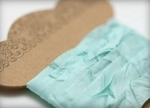 DEKOBAND / RIBBONS / RUBANS ... Shabby Ribbon Tiffany 10 mm, 1 m