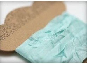 DEKOBAND / RIBBONS / RUBANS ... Cinta lamentable Tiffany 10 mm, 1 m