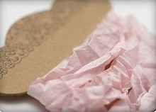 DEKOBAND / RIBBONS / RUBANS ... Shabby Ribbon hellpink 10 mm, 1 m