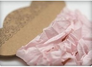 DEKOBAND / RIBBONS / RUBANS ... Shabby Ribbon bright pink 10 mm, 1 m