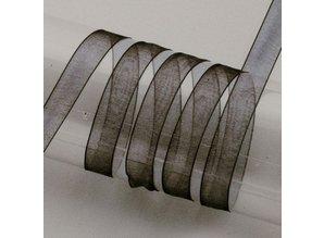 DEKOBAND / RIBBONS / RUBANS ... Organzaband Webkante, 15 mm, Meterwaren
