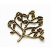 5 Metall Charms Set Small Twig 30x22 mm