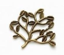 Embellishments / Verzierungen 5 Metall Charms Set Small Twig 30x22 mm