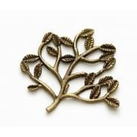Embellishments / Verzierungen 5 Metal Charms Set Small Twig 30x22 mm