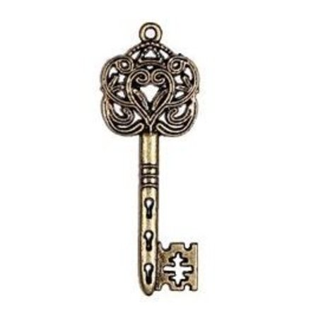 Embellishments / Verzierungen 2 Metal Charms Set Big Imperial nøgle, 60x22 mm