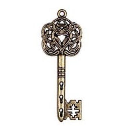 Embellishments / Verzierungen 2 Metal Charms Stel Big Keizerlijk sleutel, 60x22 mm