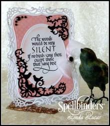 Spellbinders und Rayher Spellbinders, stansning og prægning stencil, metal stencil D-lites, Bird Scrolls